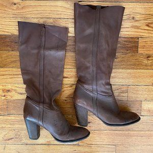 Vero Cuoio Italian Slouchy Brown Soft Leather Boot